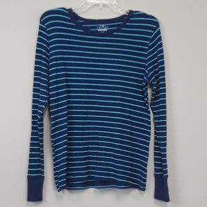 Old navy striped knit long sleeve top size L